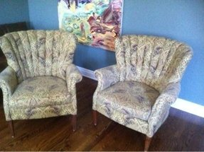 Upholstered barrel back chairs 3