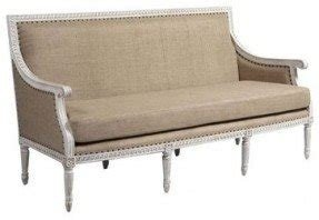 Upholstered bench with arms 1