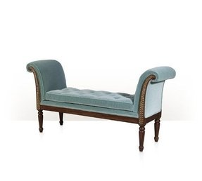 Upholstered benches with arms 1