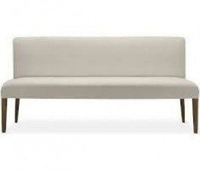 Beau Upholstered Dining Bench With Back 5