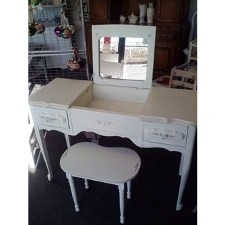 Vanity Table With Fold Down Mirror