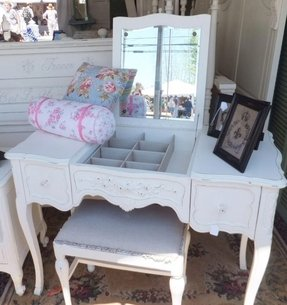 flip top vanity table - foter Fold up Night Stand