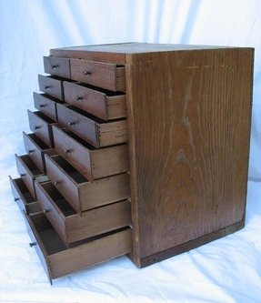Vintage chest of drawers handmade from
