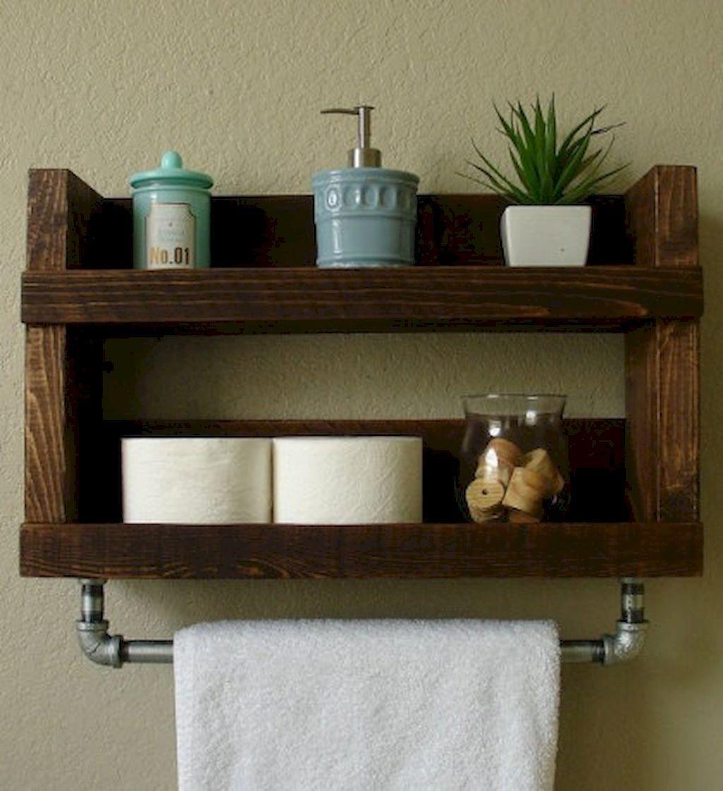 Bathroom Wood Towel Shelves - Best Home Interior •