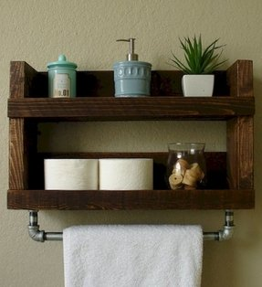 Wood Towel Bars For Bathrooms 1