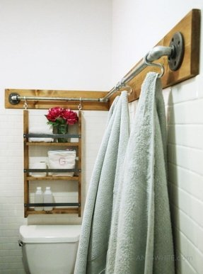 Wooden towel bar