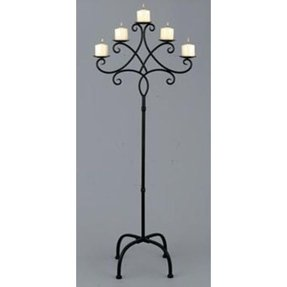Iron Candle Stand Designs : Wrought iron floor candle holders foter