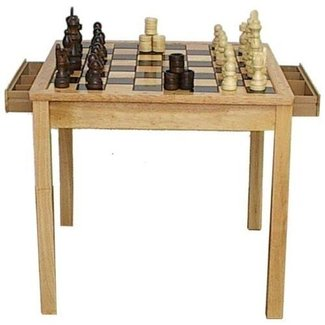 26¾ inch Chess & Checker Table Set
