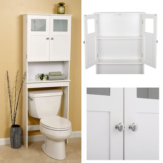 Modern Over The Toilet Storage - Foter on over the toilet tables, over the toilet storage, over the toilet furniture, over the toilet bars, over the toilet shower,