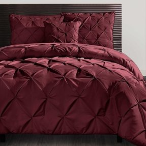 Beautiful Modern Textured Chocolate Brown Comforter Set New Queen King