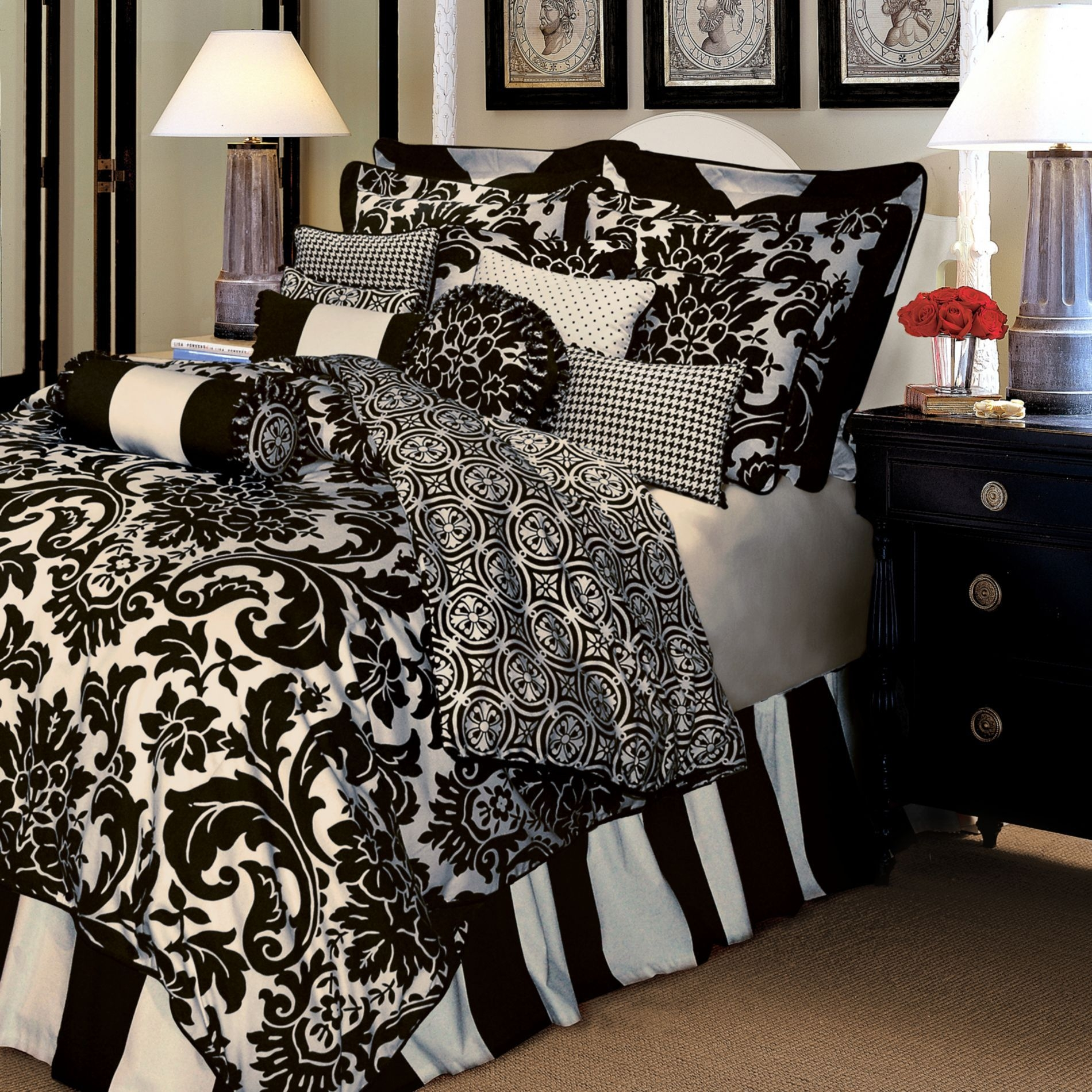 black and white damask duvet cover queen black and white damask duvet cover   foter  rh   foter