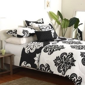 Black And White Damask Duvet Cover Ideas On Foter