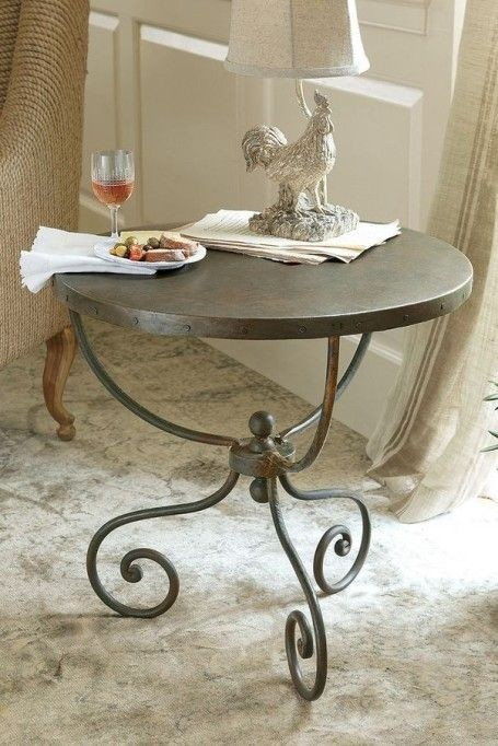 Black Wrought Iron Bedside Tables 1