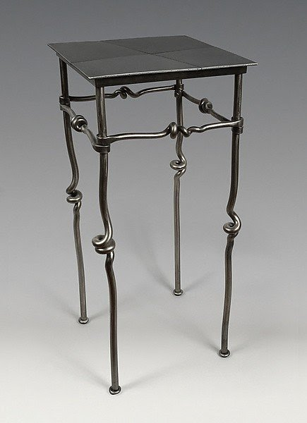 Incroyable Black Wrought Iron Bedside Tables