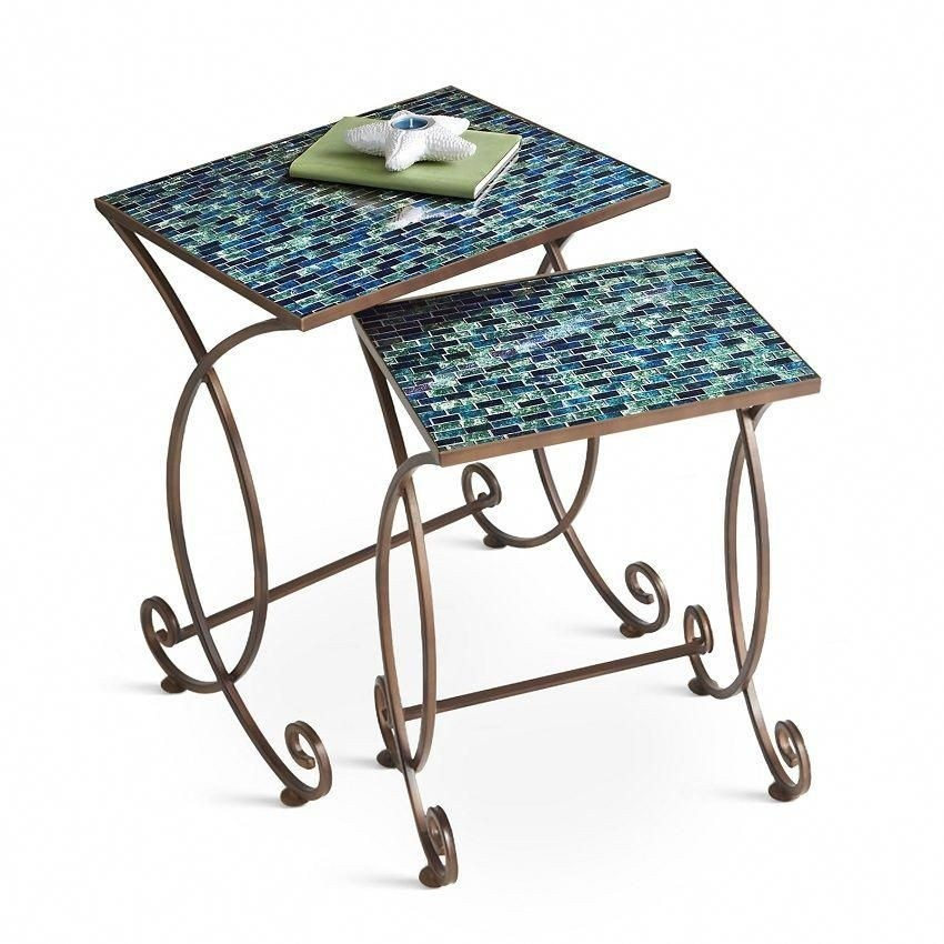 Incroyable Black Wrought Iron Side Table