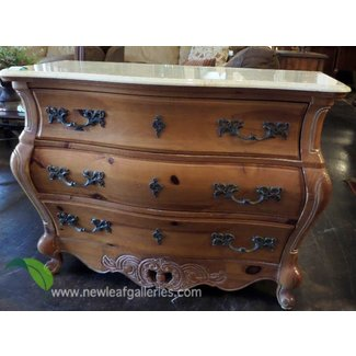 Bombay chest with marble top