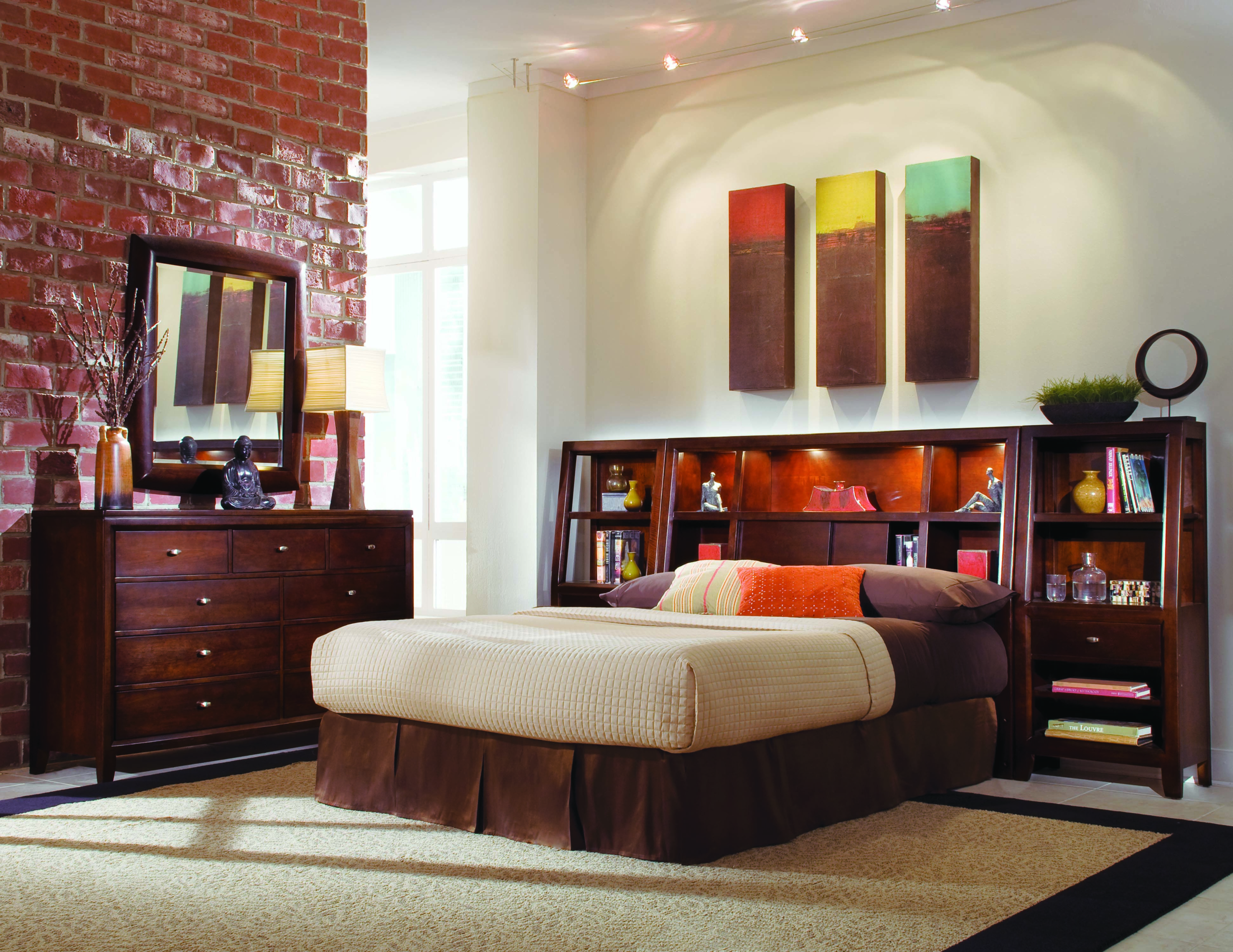 California King Bookcase Headboard Ideas On Foter Fascinating Mckenzie Bedroom Furniture Ideas Design