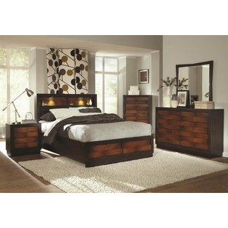California king headboard with shelves