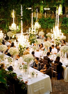 Outdoor hanging chandelier foter chandeliers and outdoor weddings photography lacie hansen venue haiku mill aloadofball Image collections