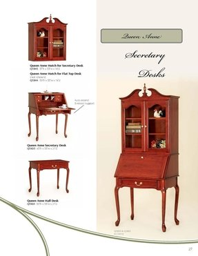 Cherry secretary desk with hutch 1