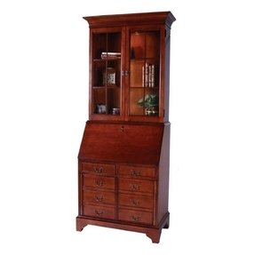 Cherry Secretary Desk With Hutch
