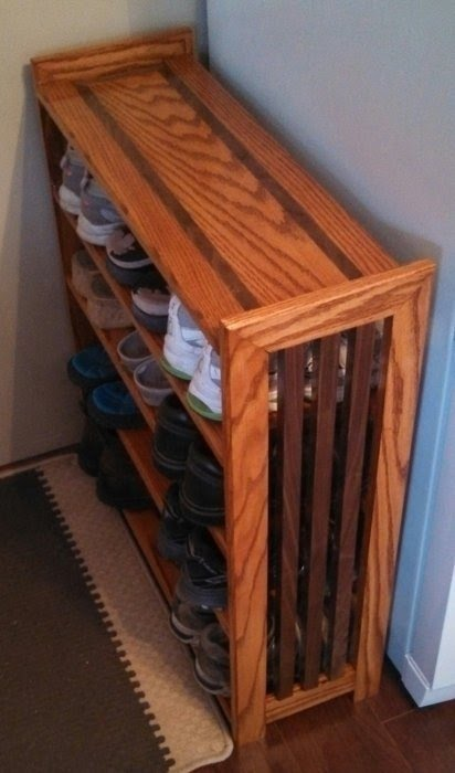 Attrayant Cherry Wood Shoe Rack