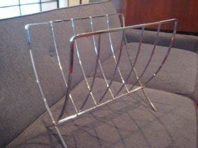 Chrome magazine rack 22