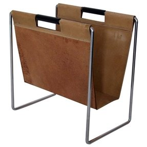 Chrome magazine rack bathroom
