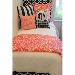 Coral teen bedding 2