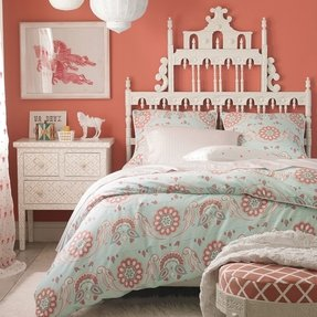 Coral teen bedding