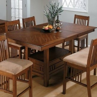 Counter height table sets with storage 7