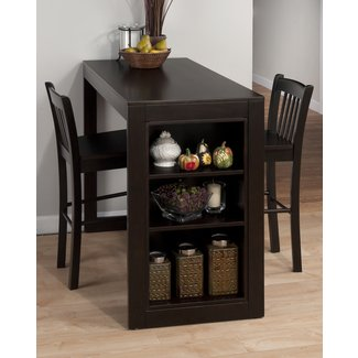 Counter height table sets with storage