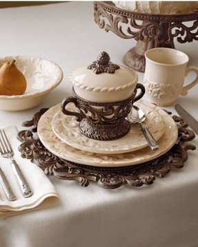 Cream dinnerware sets 2