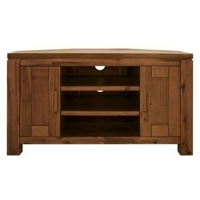 Dark wood corner tv cabinet