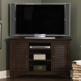 Dark wood corner unit