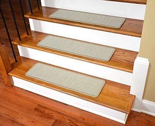 Dean Non Slip Tape Free Pet Friendly Stair Gripper Natural Fiber Sisal Carpet  Stair Treads