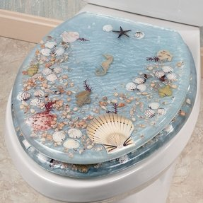 Decorative elongated toilet seats 2