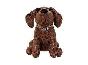 Design pick faux leather dog door stop from linea