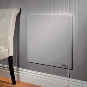 Flat panel wall heater foter for Electric bathroom heaters ceiling mounted