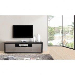 Element Matte Black Stainless Steel Tv Stand