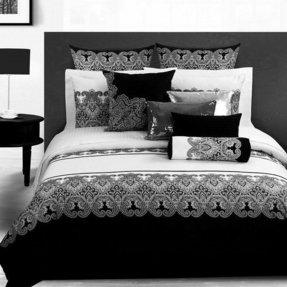 Fadfay Clic Damask Black And White Duvet Cover Bedding Set