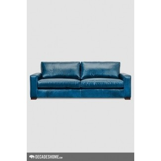 Faux Leather Chesterfield Sofa