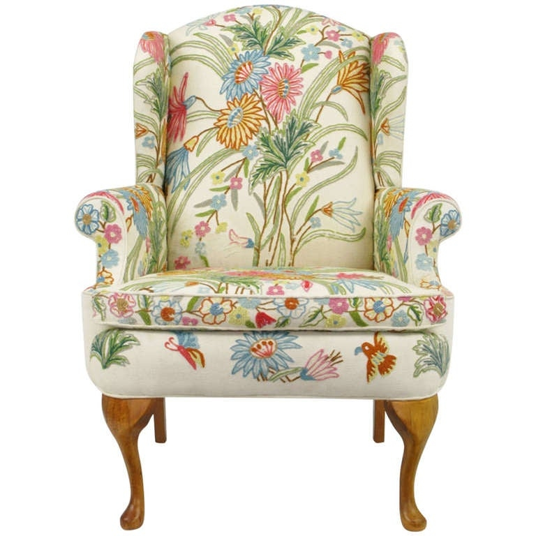 Charmant Floral Upholstered Accent Chair 1