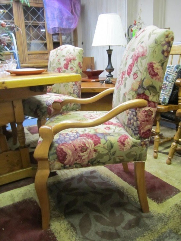 Floral Upholstered Chairs