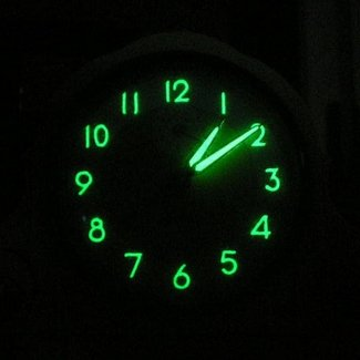 Glowing wall clock