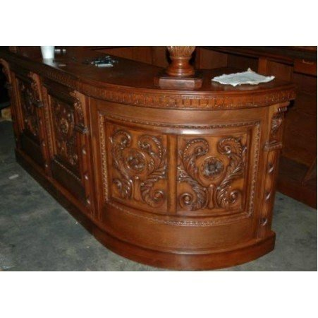 Home Antique Covered English Style Corner L Home Bar Furniture