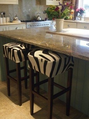 Home custom made custom made zebra print cowhide bar stools