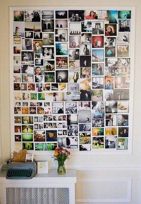 Large picture frame collages for wall