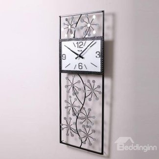 Large rectangular wall clock