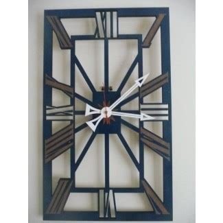 Large vintage wall clock blue edition 2